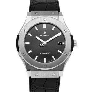 Hublot Black Titanium Classic Fusion Racing 511.NX.7071.LR Men's Wristwatch 45 MM