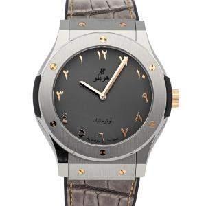 Hublot Grey Titanium Classic Fusion Seddiqi Limited Edition 511.NX.5710.LR.SDQ12 Men's Wristwatch 42.5 MM