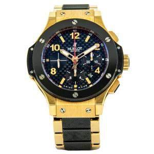 Hublot Black 18K Yellow Gold Big Bang Men's Wristwatch 42 MM