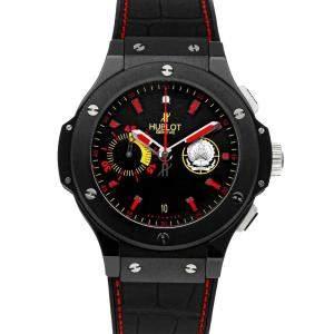 Hublot Black Ceramic Big Bang Angola Chronograph 318.CM.1128.GR.AGL09 Men's Wristwatch 44 MM