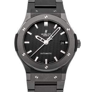 Hublot Black Ceramic Classic Fusion 511.CM.1770.CM Men's Wristwatch 45 MM