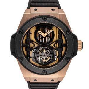 Hublot Black 18K Rose Gold Big Bang King Power Tourbillon Limited Edition 705.OM.0007.RX Men's Wristwatch 48 MM