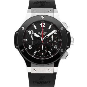 Hublot Black Stainless Steel Big Bang Chronograph 301.SB.131.RX Men's Wristwatch 44 MM