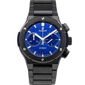 Hublot Blue Ceramic Classic Fusion Chronograph 520.CM.7170.CM Men's Wristwatch 45 MM