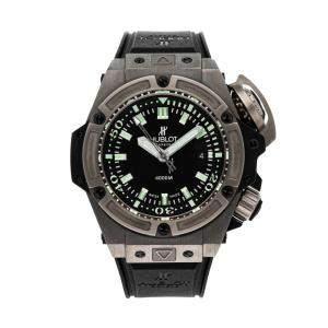 """Hublot Black Titanium Big Bang King Power """"Oceanographique"""" 4000m Limited Edition 731.NX.1190.RX Men's Wristwatch 48 MM"""