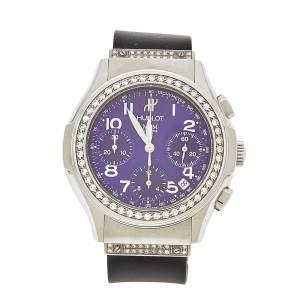 ساعة يد رجالية هوبلوت ألماس ستانلس ستيل مطاط MDM 1810.1.054 زرقاء 40 مم