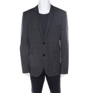 Hugo By Hugo Boss Anthracite Grey Wool Adris3/Heibo3 Tailored Blazer 3XL