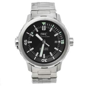 IWC Black Stainless Steel Aquatimer IW329002 Automatic Men's Wristwatch 43 mm
