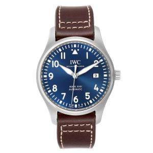 IWC Blue Stainless Steel Pilot Mark XVIII Petit Prince IW327004 Men's Wristwatch 40 MM