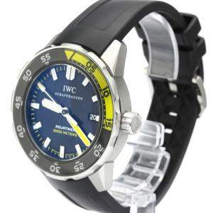 IWC Black Stainless Steel Aquatimer Automatic 2000 IW356810 Men's Wristwatch 44 MM