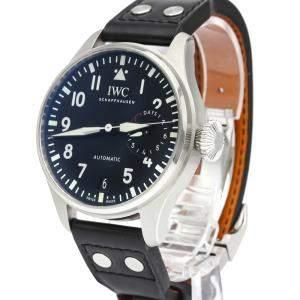 IWC Black Stainless Steel Big Pilot Automatic IW500912 Men's Wristwatch 46 MM
