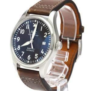 IWC Brown Stainless Steel Pilot Mark Xviii IW327003 Men's Wristwatch 40 MM