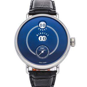IWC Blue Stainless Steel Tribute to Pallweber Edition 150 Years IW505003 Men's Wristwatch 45 MM
