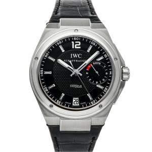 ساعة يد رجالية أي دبليو سيو بيغ أنجينيور IW5005-01 ستانلس ستيل سوداء 45.5 مم