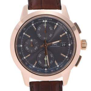 IWC Black 18K Rose Gold Schaffhausen Ingenieur Chronograph IW380803 Automatic Men's Wristwatch 42 MM
