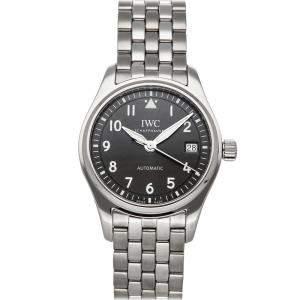 IWC Black Stainless Steel Pilot IW3240-02 Men's Wristwatch 36 MM