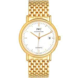 ساعة يد رجالية أي دبليو سي بورتوفينو IW925101 ذهب أصفر عيار 18 بيضاء 37مم