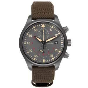 IWC Grey Ceramic Pilot Top Gun Miramar IW389002 Men's Wristwatch 44 MM