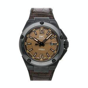 IWC Brown Ceramic Ingenieur AMG Black Series IW3225-04 Men's Wristwatch 46 MM