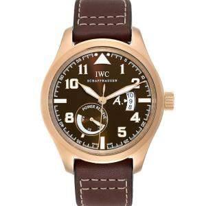 IWC Brown 18k Rose Gold Pilot Saint Exupery Limited Edition IW320103 Men's Wristwatch 44 MM