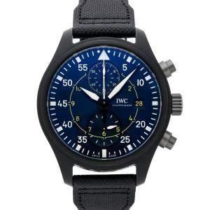 "IWC Blue Ceramic Pilot Chronograph Edition ""Blue Angels"" IW3890-08 Men's Wristwatch 44.5 MM"