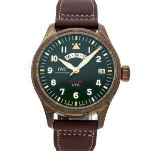"IWC Green Bronze Pilot UTC Spitfire Edition ""MJ271"" IW3271-01 Men's Wristwatch 41 MM"