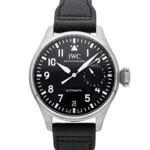 IWC Black Stainless Steel Big Pilot's IW5009-12 Men's Wristwatch 46 MM