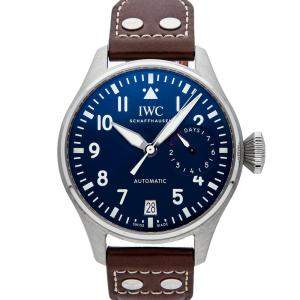 """IWC Blue Stainless Steel Big Pilot's Watch Edition """"Le Petit Prince"""" IW5009-16 Men's Wristwatch 46 MM"""