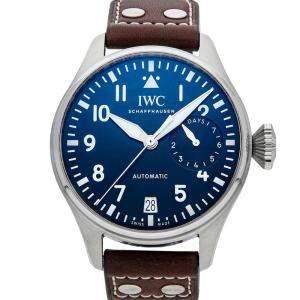 "IWC Blue Stainless steel Big Pilot ""Le Petit Prince"" IW5010-02 Men's Wristwatch 46 MM"