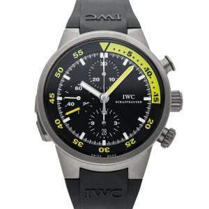 IWC Black Titanium Aquatimer Split-Minute Chronograph IW3723-04 Men's Wristwatch 44 MM