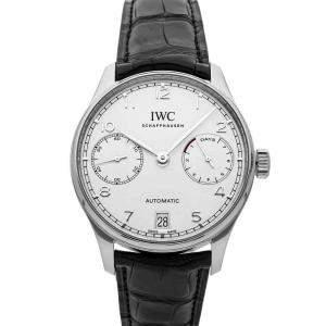 IWC Silver Stainless Steel Portugieser IW5007-12 Men's Wristwatch 42 MM