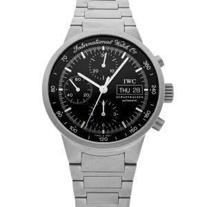 IWC Black Titanium GST Chronograph IW3707-03 Men's Wristwatch 40 MM