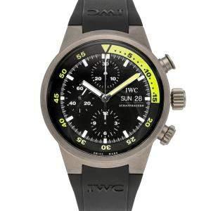 IWC Black Titanium Aquatimer Chronograph IW3719-18 Men's Wristwatch 42 MM