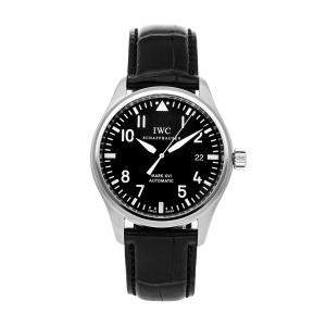 IWC Black Stainless Steel Pilot's Mark XVI IW3255-01 Men's Wristwatch 39 MM