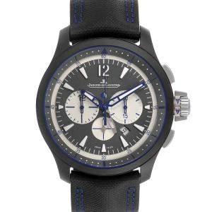 Jaeger LeCoultre Black Ceramic Master Compressor 179.C.C7 Q205C571 Men's Wristwatch 46 MM