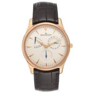 Jaeger Lecoultre Silver 18K Rose Gold Reserve De Marche 176.2.38.S Q1372520 Men's Wristwatch 39 MM