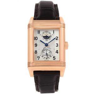 Jaeger LeCoultre Silver 18K Rose Gold Reverso Wempe Limited Edition 17/25 Men's Wristwatch 29MM