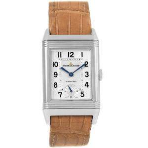 Jaeger LeCoultre Silver Stainless Steel Grande Reverso 278.8.56 Q3808420 Men's Wristwatch 27.4MM