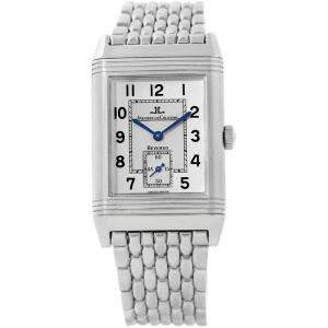 Jaeger LeCoultre Silver Stainless Steel Reverso Grande Taille 270.8.62 Men's Wristwatch 26MM
