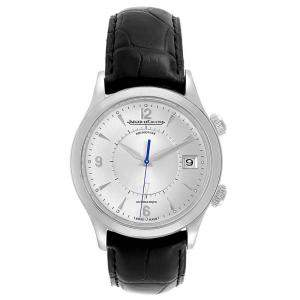 Jaeger LeCoultre Black Stainless Steel Master Memovox Automatic Q1418430 Men's Wristwatch 40 MM
