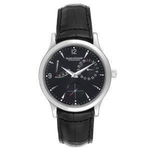 Jaeger Lecoultre Black Stainless Steel Reserve De Marche 140.8.93.S Men's Wriswatch 37 MM