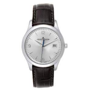 Jaeger Lecoultre Silver Stainless Steel Master Control 176.8.40.S Q1548420 Men's Wristwatch 39 MM