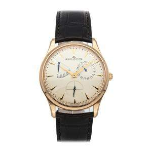 Jaeger LeCoultre Silver 18K Rose Gold Master Ultra Thin Reserve de Marche Q1372520 Men's Wristwatch 39 MM