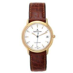Jaeger Lecoultre White 18K Yellow Gold Odysseus 165.7.89 Men's Wristwatch 34.5 MM