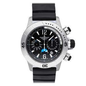 Jaeger-LeCoultre Black Titanium Master Compressor Diving Chronograph 186T670 Men's Wristwatch 44 MM