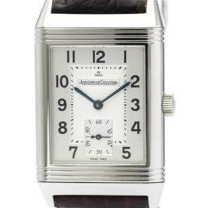 Jaeger-Lecoultre Silver Stainless Steel Big Reverso Hand-Winding 270.8.62 Bf515369 Men's Wristwatch 26 MM