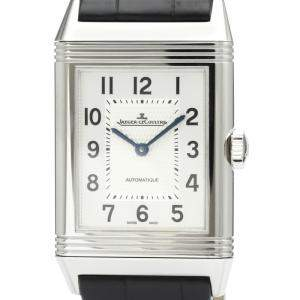 Jaeger-Lecoultre Silver Stainless Steel Reverso Classic 214.8.S5 Bf517471 Men's Wristwatch 27 MM