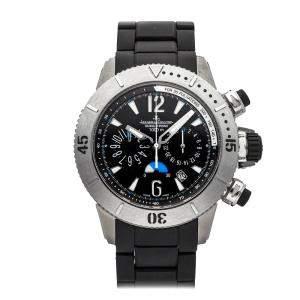 Jaeger-LeCoultre Black Titanium Master Diving Chronograph Q186T770 Men's Wristwatch 44 MM