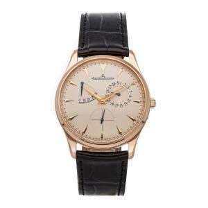 Jaeger-LeCoultre Beige 18K Rose Gold Master Ultra Thin Reserve de Marche Q1372520 Men's Wristwatch 39 MM