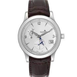 """ساعة يد رجالية ياجر لي كولتر """"ماستر كونترول 147.8.05.أس كيو1628420"""" ستانلس ستيل فضية 40 مم"""